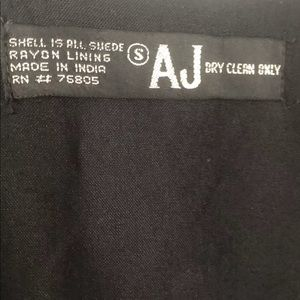 AJAY NAYYAR Jackets & Coats - AJ Fine Suede Leather Western Wear